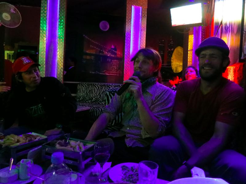 Karaoke.... Our ears were bleeding by the end