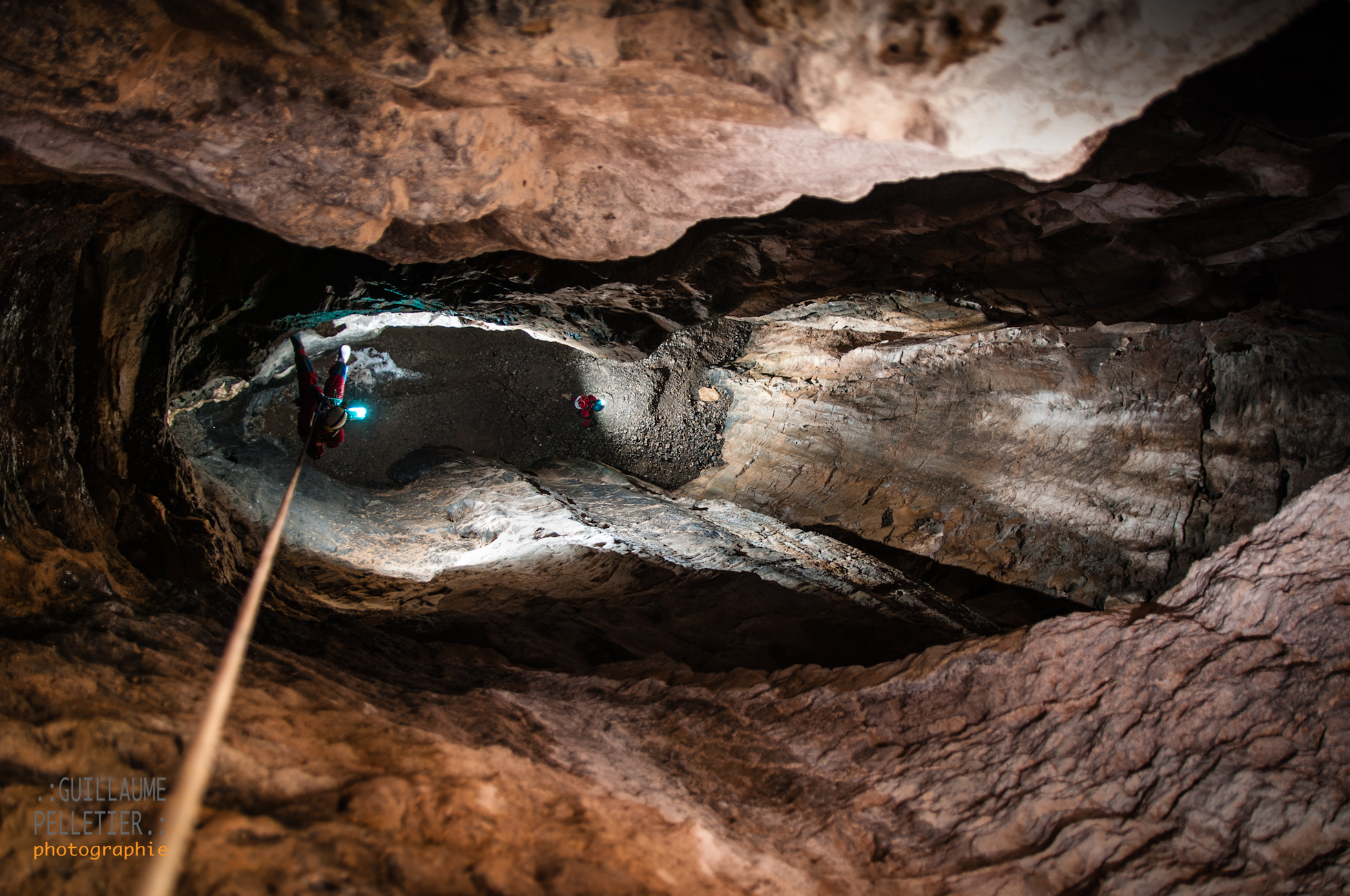 The bottom of So Long And Thanks For All The Cave! pitch. Photo Guillaume Pelletier